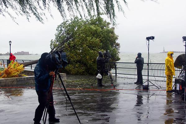 Battery Park, Downtown Manhattan, Hurricane Sandy